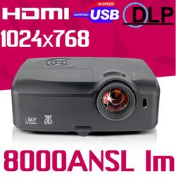 Video Mapping 8000 ANSI Lumen Projector For Christmas or Halloween