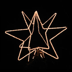 "24"" Wire frame 3D Star With Rope Light Kit"