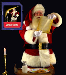 Virtual Santa Video on an SD Media Card