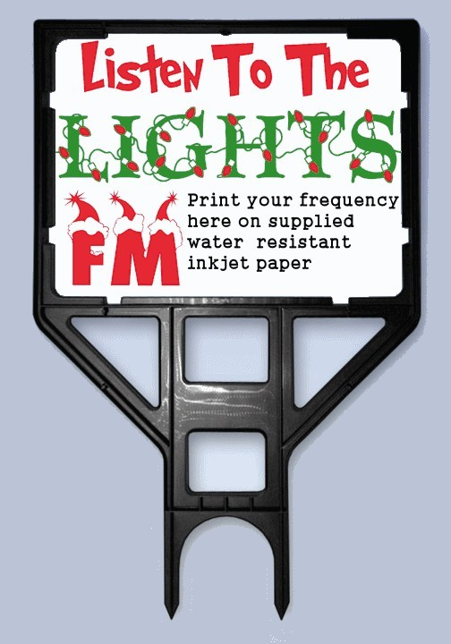 Christmas light show fm radio sign