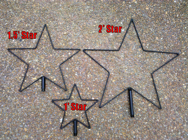 2' Wire frame Star  (Frame Only)