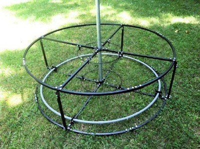 5 foot diameter all metal outdoor Christmas Tree base for 10', 12' or 15' Trees