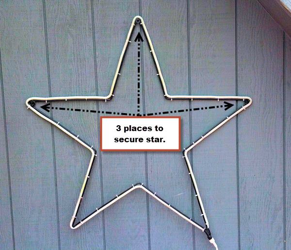 36 outdoor christmas star with rope light kit easy mount to a wall aloadofball Choice Image