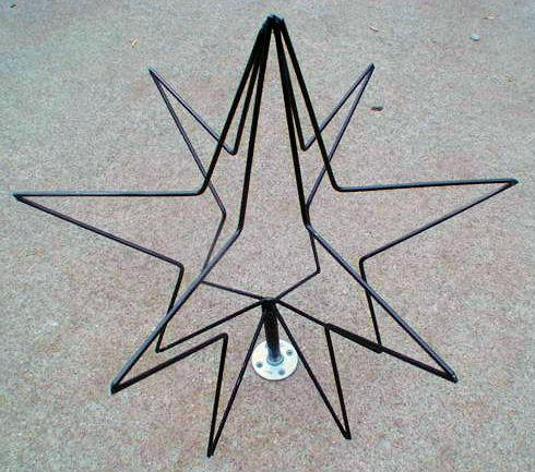 "24"" 3D wire frame Star"