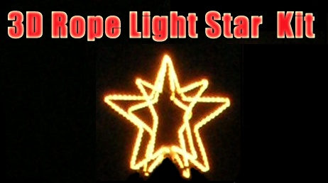 24 wire frame 3d star with rope light kit aloadofball Gallery