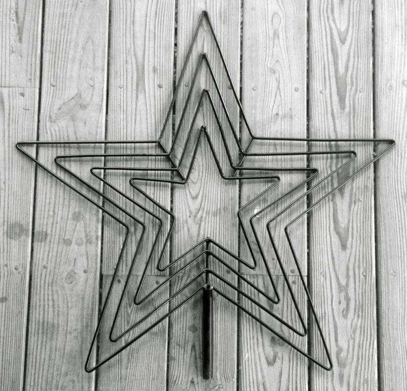 4 channel 24 inch christmas light star 30 star flare 4 channel frame only mozeypictures Choice Image