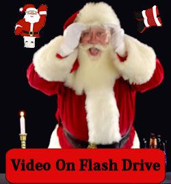 Virtual Santa Video on a USB Flash Drive