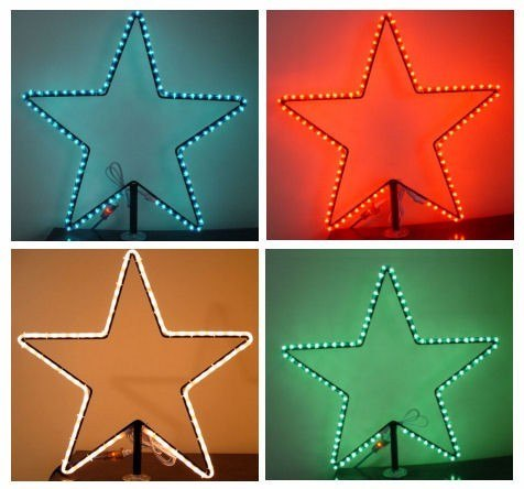 2' Wire frame Star With Rope Light