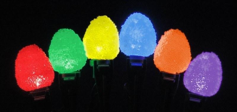 gumdrop christmas lights 50 led bulbs 25 ft long - Long Christmas Lights