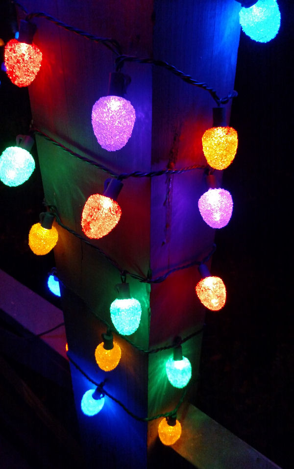 Gumdrop Christmas Lights - 50 LED Bulbs - 25 ft Long