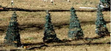 Christmas mini tree wire easels 36""